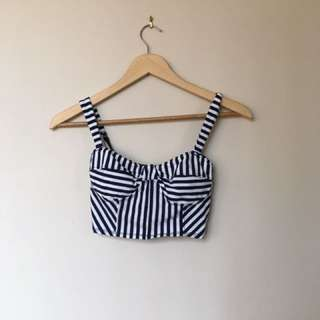 Striped Sweetheart Crop