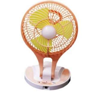 Mini Electric Fan with LED Lamp Foldable & Chargeable.