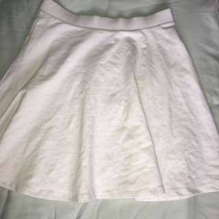 White Circle Skirt