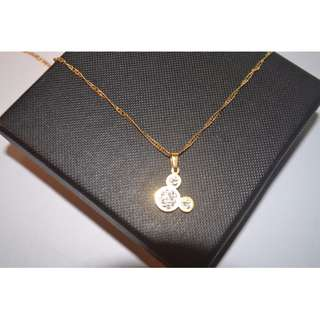 14kt GOLD FILLED Necklace from Israel- Mickey  #N0009