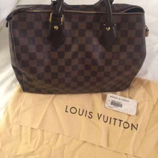 Authentic Louis Vuitton Speedy 30 - Damier