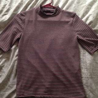 Zara Collared Striped Shirt