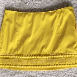 PRICE DROP‼️‼️ MARCIANO bright Yellow Mini Skirt