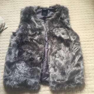 Faux Fur Vest Size Medium