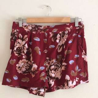 Rose Print Floaty Shorts
