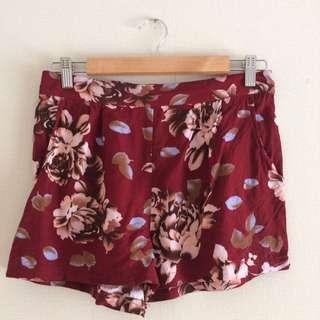 Rose Print Floaty Shorts