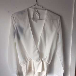 White Bodysuit Blouse