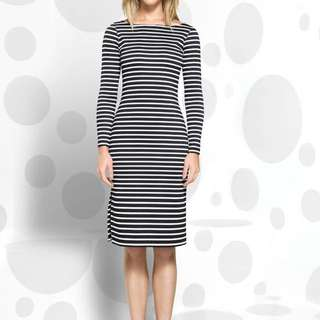 Macgraw Fitted Breton Striped Dress