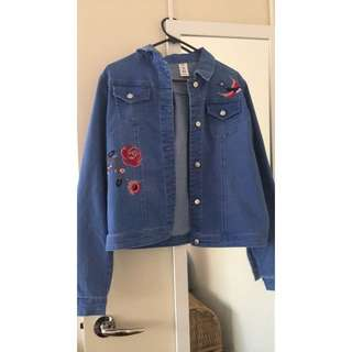 Embroidered Denim Jacket 👕