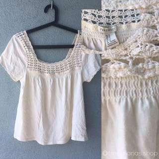 Forever 21 white Crochet Top