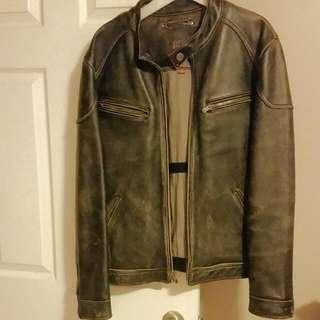 Mens Dark Brown Leather Jacket