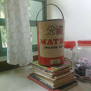 1970s Empty Nippon Paint Container Made In Singapore