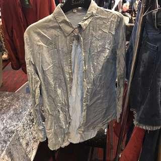 Chambray Denim Look Shirt