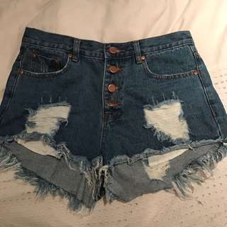 Denim High Waisted Short