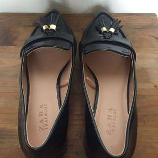 Zara Midnight Blue Patent Loafers