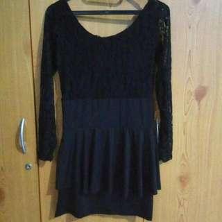 Short Dress Peplum