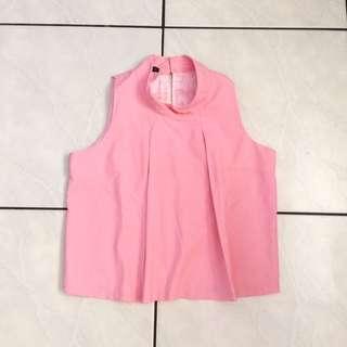 Baby Pink Halter Crop