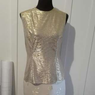 GOLD TWO PIECE SET (TOP AND SKIRT)