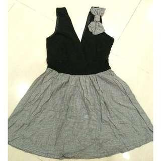 Chest Vneck Dress