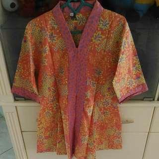Batik Peplum Top