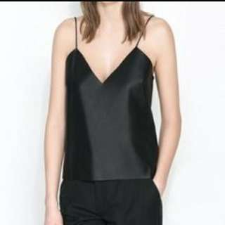 Zara Faux Leather tank