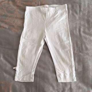 Celana Legging Anak White Putih Kids Size 18-24 Months