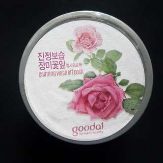 Goodal Rose Calming Wash Off Pack