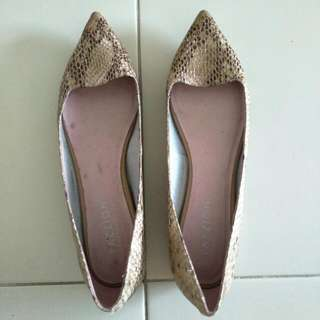 Pazzion Brown Pointed Flat