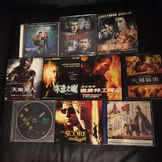 電影VCD套餐A十隻如圖$40不議價不散賣