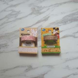 Mickey/Minnie MT 手帳用紙膠帶