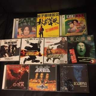 電影VCD套餐D十隻如圖$40不議價不散賣