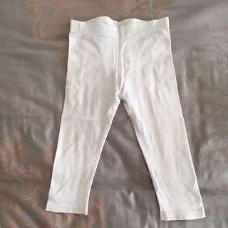 Kids Legging Celana Anak Putih White Size 12-18 Months