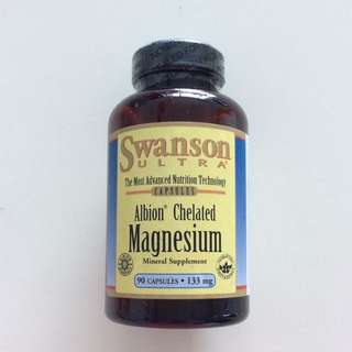 Swanson SWU073 Albion Chelated Magnesium Glycinate 133MG 90粒 氨基酸螯合鎂