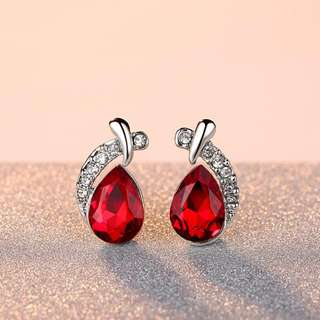 Crystal Red Jewellery Set