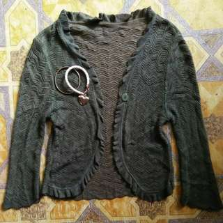 Knitted Green Blazer XS-S