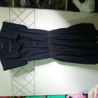 Dress Wrn Biru Dongker...model Balon