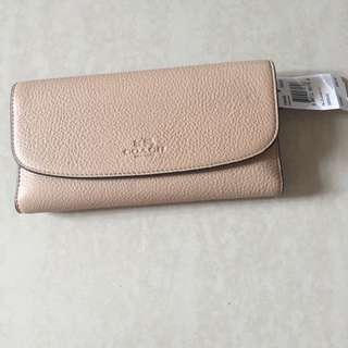 100%brand New And Real Coach Wallet