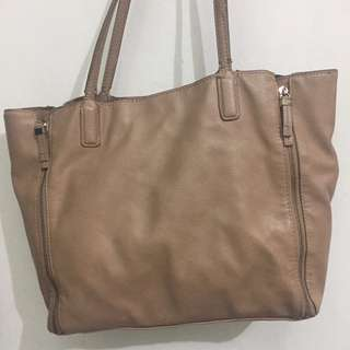 Zara Basic Bag Nude Colour