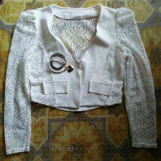 Lace White Trauser S-M