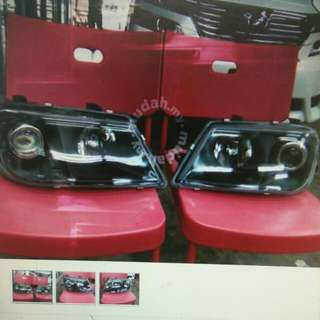 Proton Waja Head Lamp Black Crystal