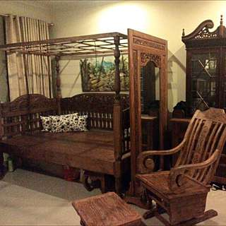 Antique Balinese Teak Wood Furniture