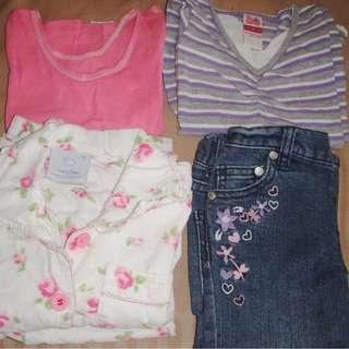 Bonds, H&T, Snugtime Girls Mixed Clothing Lot Size 2