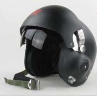 Motorbike pilot inspired Double lens fibreglass helmet 2 colours (Preorder item)