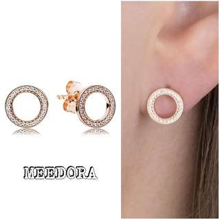 FOREVER PANDORA EARRINGS ROSE GOLD