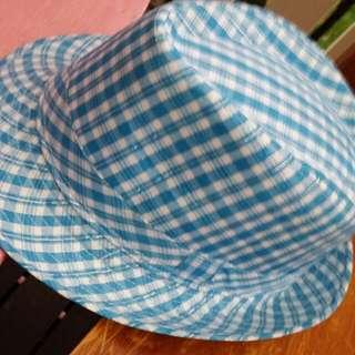 Blue Pin Stripe Fedora