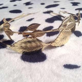 Gold Leaf Headbands