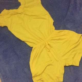 Yellow Kids Romper
