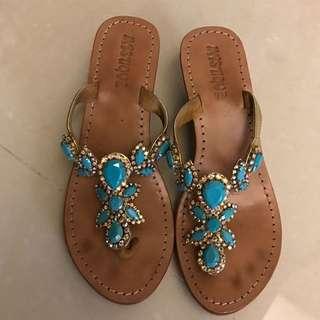 Mystique 涼鞋 寶石 藍 8