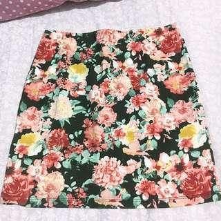 Pull & Bear Floral Skirt