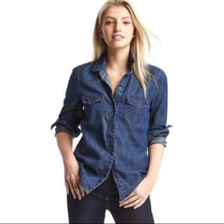 KEMEJA DENIM JEANS SHIRT BLOUSE